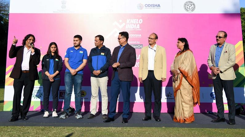 Sports Minister at the Khelo India University Games